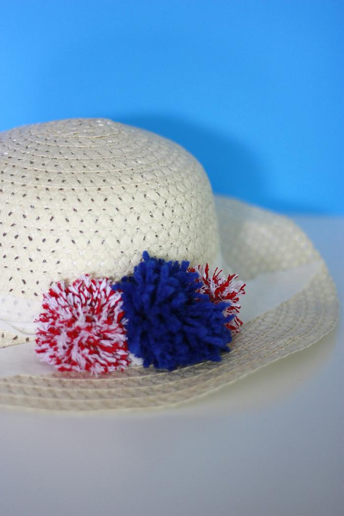 DIY Pom Pom Sun Hat