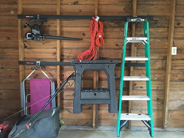 Garage cleanup with Rubbermaid FastTrack Garage Organization System