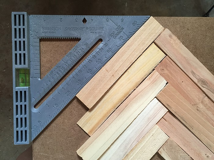 DIY Wall Art using wood shims. Simple and cheap wall art!