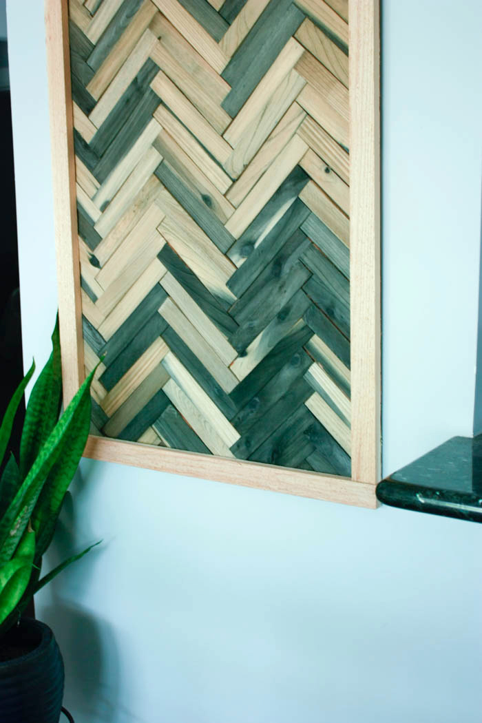 DIY Wood Shim Art a cheap and easy wall art idea