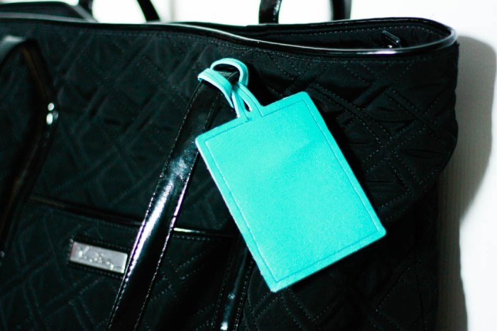 DIY Luggage Tag