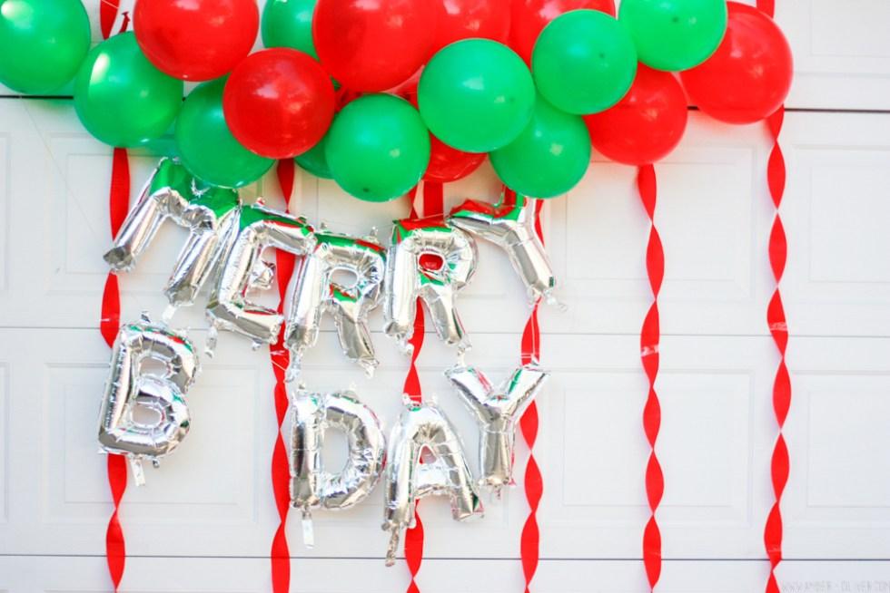 Merry Birthday! (A Christmas themed birthday party)