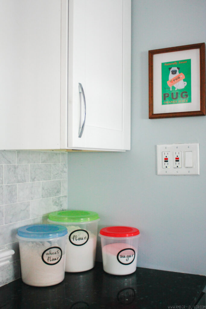 Kitchen Organization Labels - Free vinyl kitchen labels!