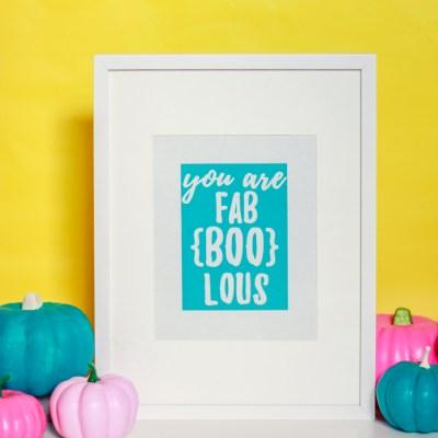 Colorful Halloween – Punny Halloween Printables!