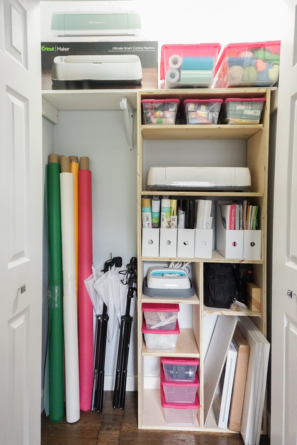 Diy Closet Shelves Tips For Craft Closet Organization