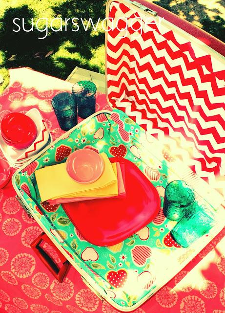 summer camp picnic basket