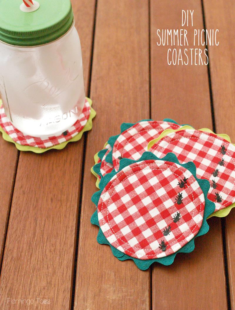 diy summer picnic coasters