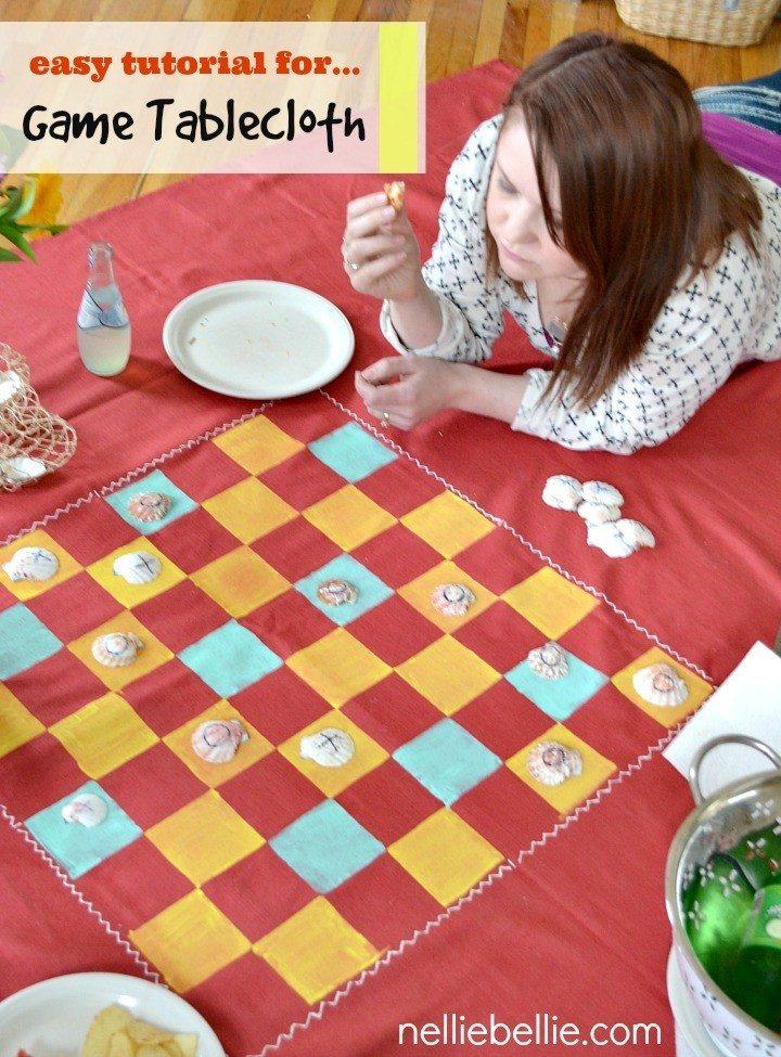 diy game tablecloth