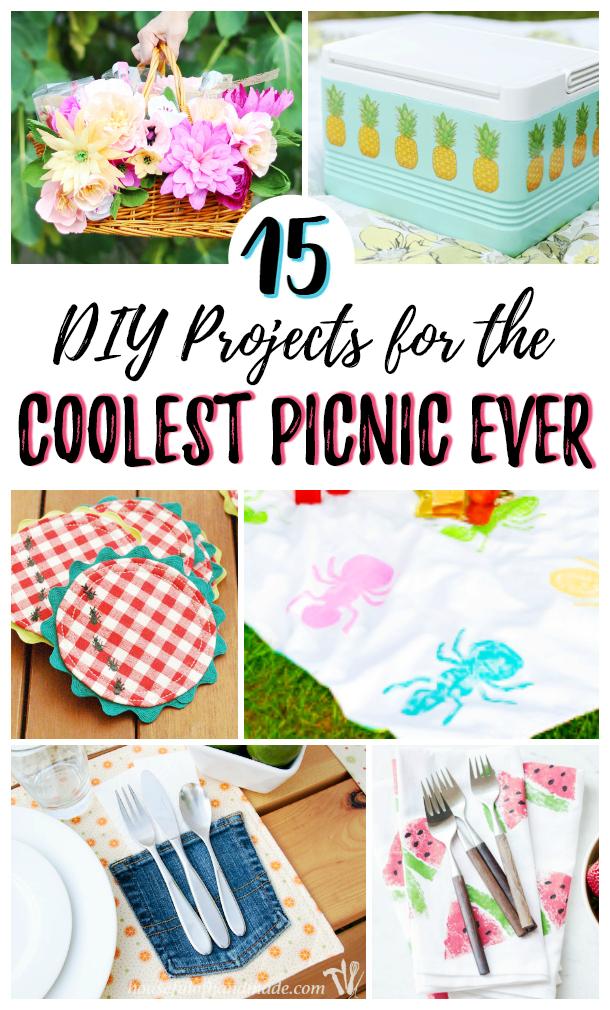 DIY picnic ideas photo collage