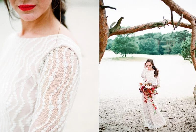 Bridal Inspirations at the Netherlands Dunes by Elisabeth Van Lent Photography