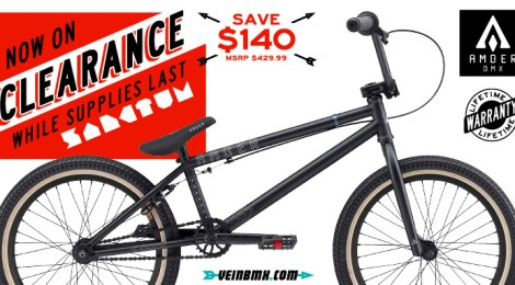 Amber BMX Sanctum bike on sale