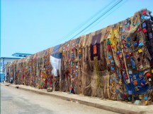 The Wall of Art: Made up of Sacks sewed together.