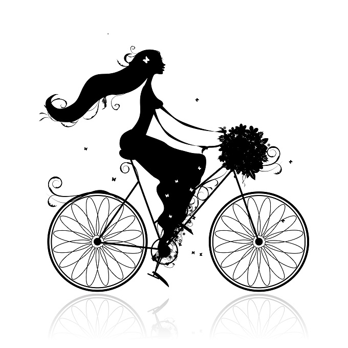 Ride pretty and upright with confidence!