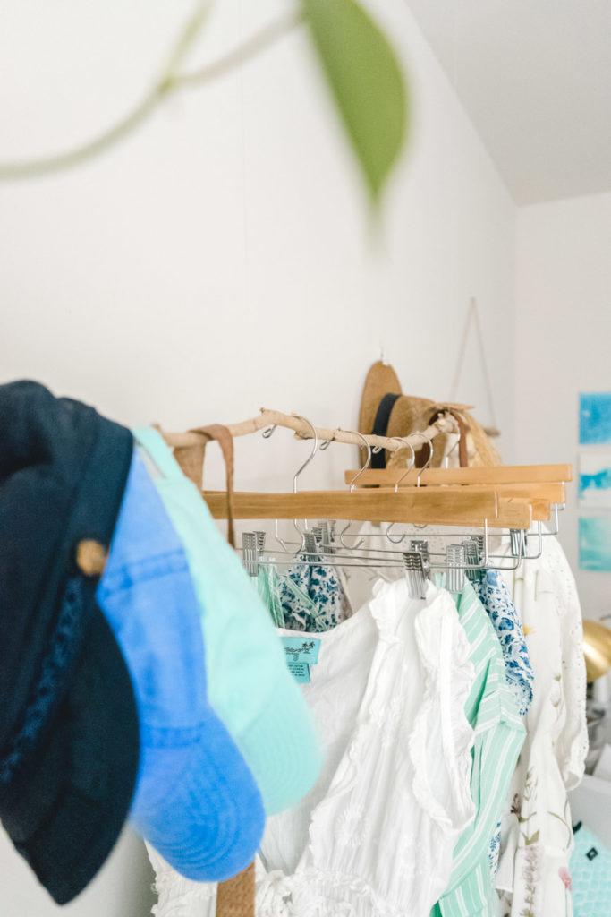 hanging clothing rack diy amber