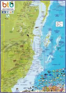 San Pedro Ambergris Caye Belize Map