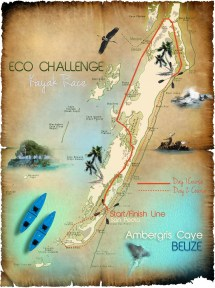 San Pedro Ambergris Caye Belize Map