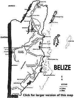 Maya Archaeological Sites of Belize, Belize History