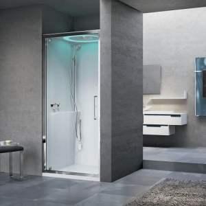 .NOVELLINI (Itālija) EON G HAMMAM tvaika dušas kabīne 900 x 900mm nišai