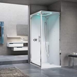 .NOVELLINI (Itālija) EON GF HAMMAM tvaika dušas kabīne 900 x 900mm