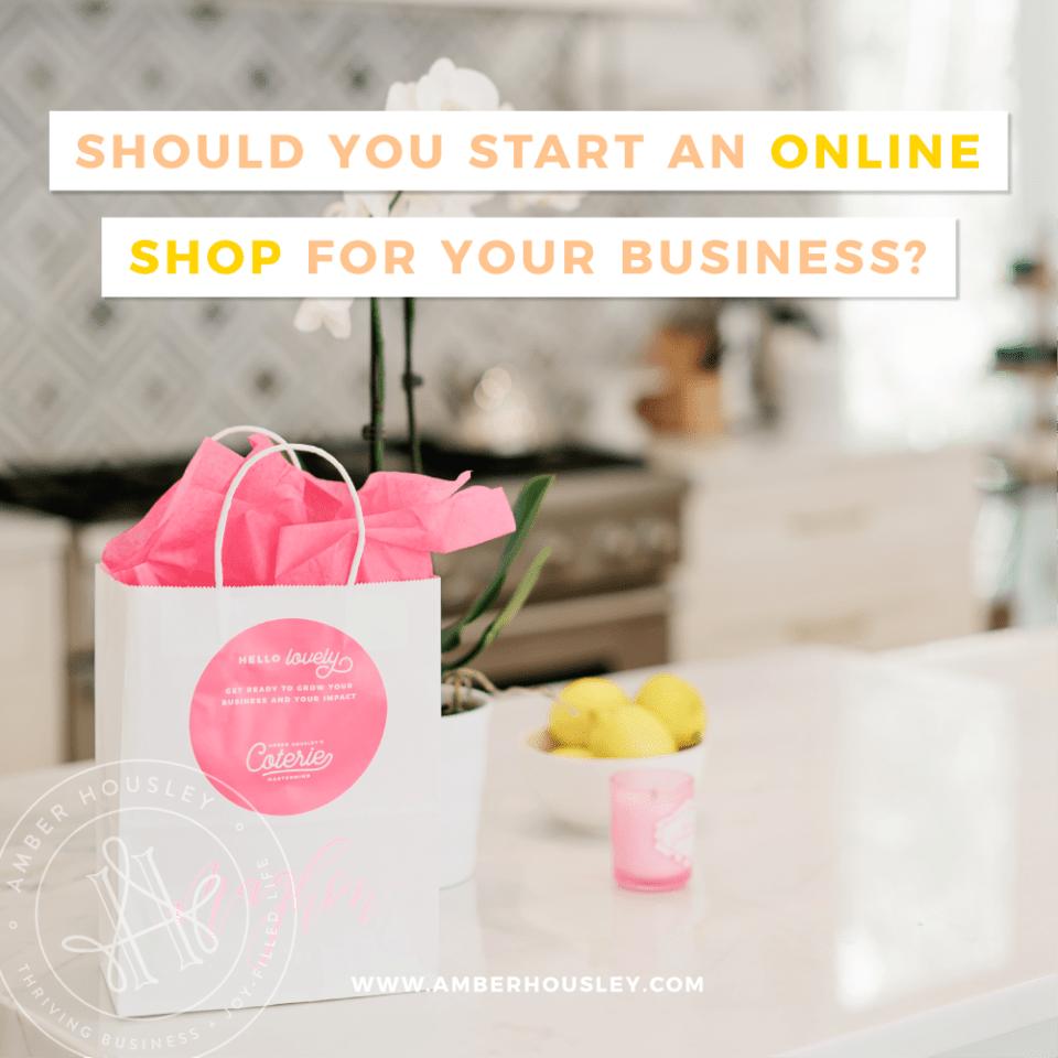start an online shop amber housley