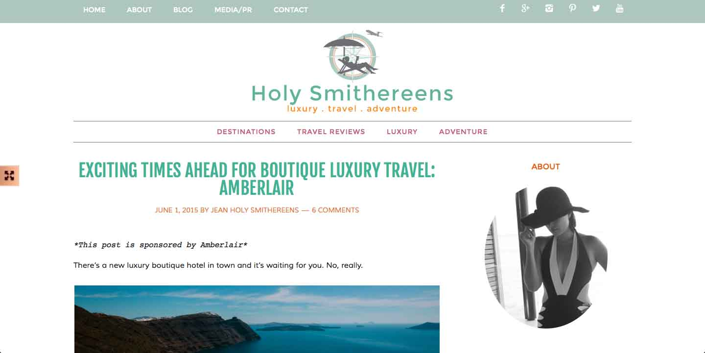 Amberlair Crowdsourced Crowdfunded Boutique Hotel - Jean Carmela from Holysmithereens