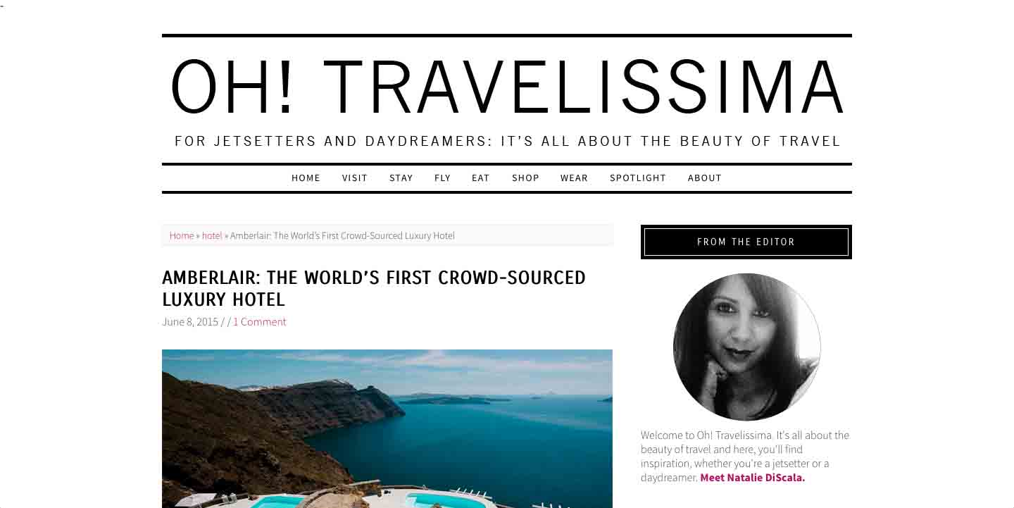 Amberlair Crowdsourced Crowdfunded Boutique Hotel -Natalie DiScala of Oh! Travelissima