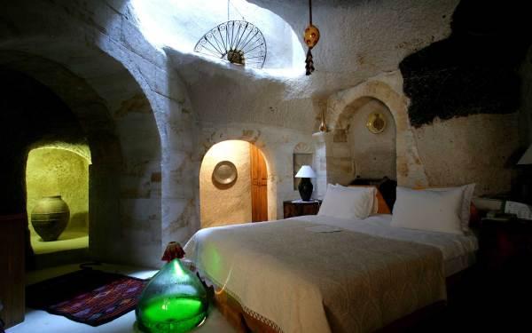 Museum Cave Hotel in Cappadocia, Turkey.