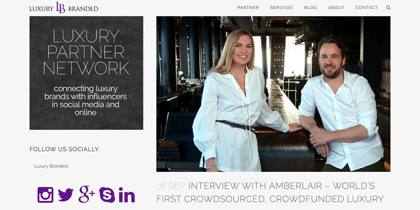 Amberlair Crowdsourced Crowdfunded Boutique Hotel - Interview Marcus and Kristin of Amberlair with Luxury Branded