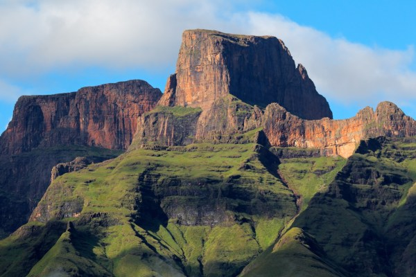Sentinal peak of the Drakensberg mountains, South Africa