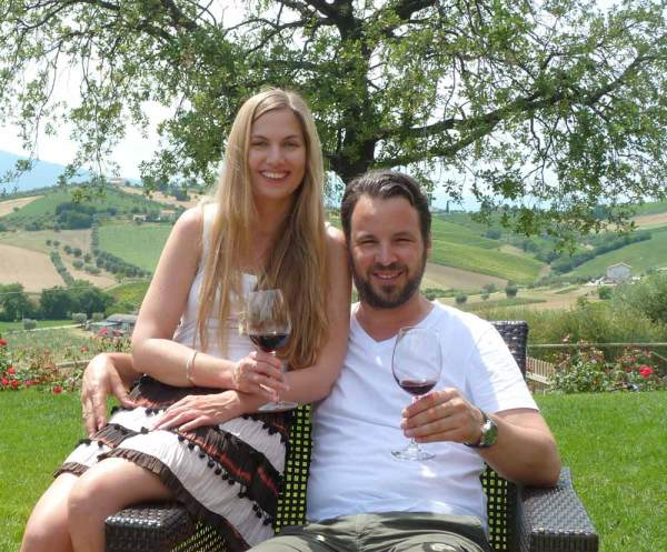 Amberlair Crowdsourced Crowdfunded Boutique Hotel - Marcus and Kristin in Abruzzo, Gan Sasso on the vineyard of Emidio Pepe, Italy.