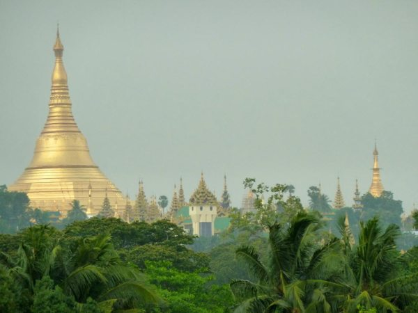 The Shwedagon pagoda in Yangon