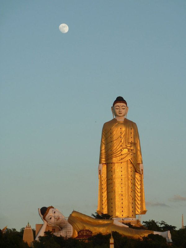 A huge Buddha statue in the south of Myanmar