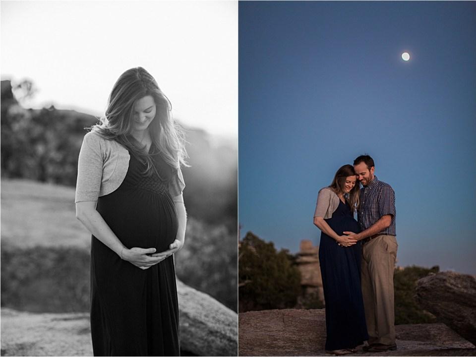 maternity_mount-lemmon_pregnant-mother_blue-dress_super-moon_sunset_05