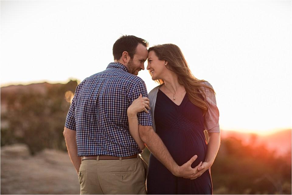 maternity_mount-lemmon_pregnant-mother_blue-dress_super-moon_sunset_12