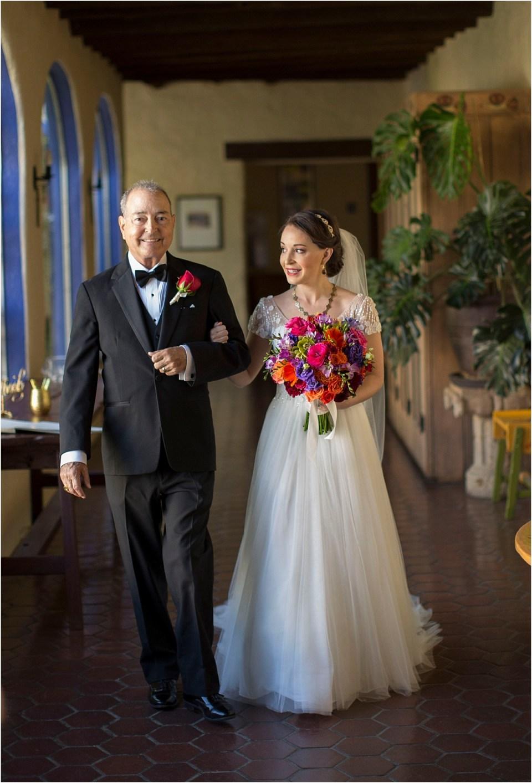 Father walking Bride down the aisle, Hacienda Del Sol, Tucson, Arizona