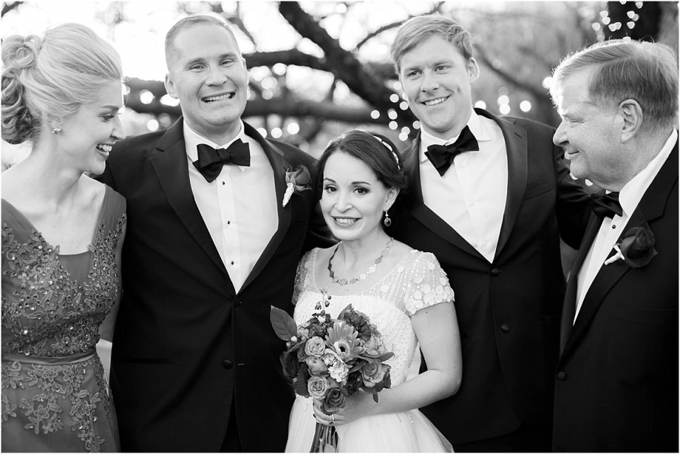Family portrait at Tucson, Arizona Wedding Reception