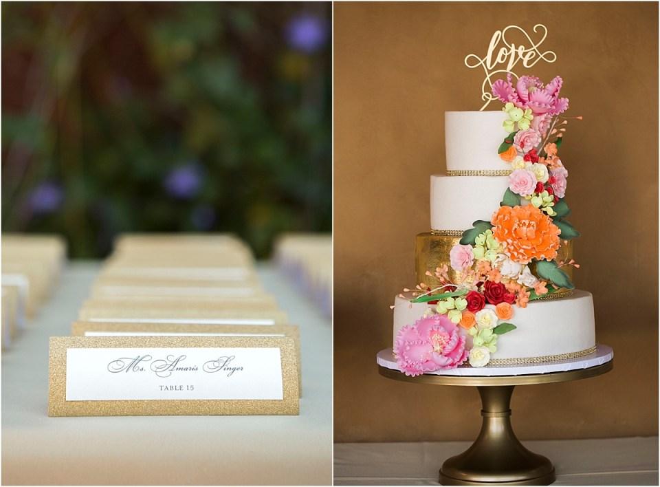 Wedding Cake Details, Tucson, Arizona