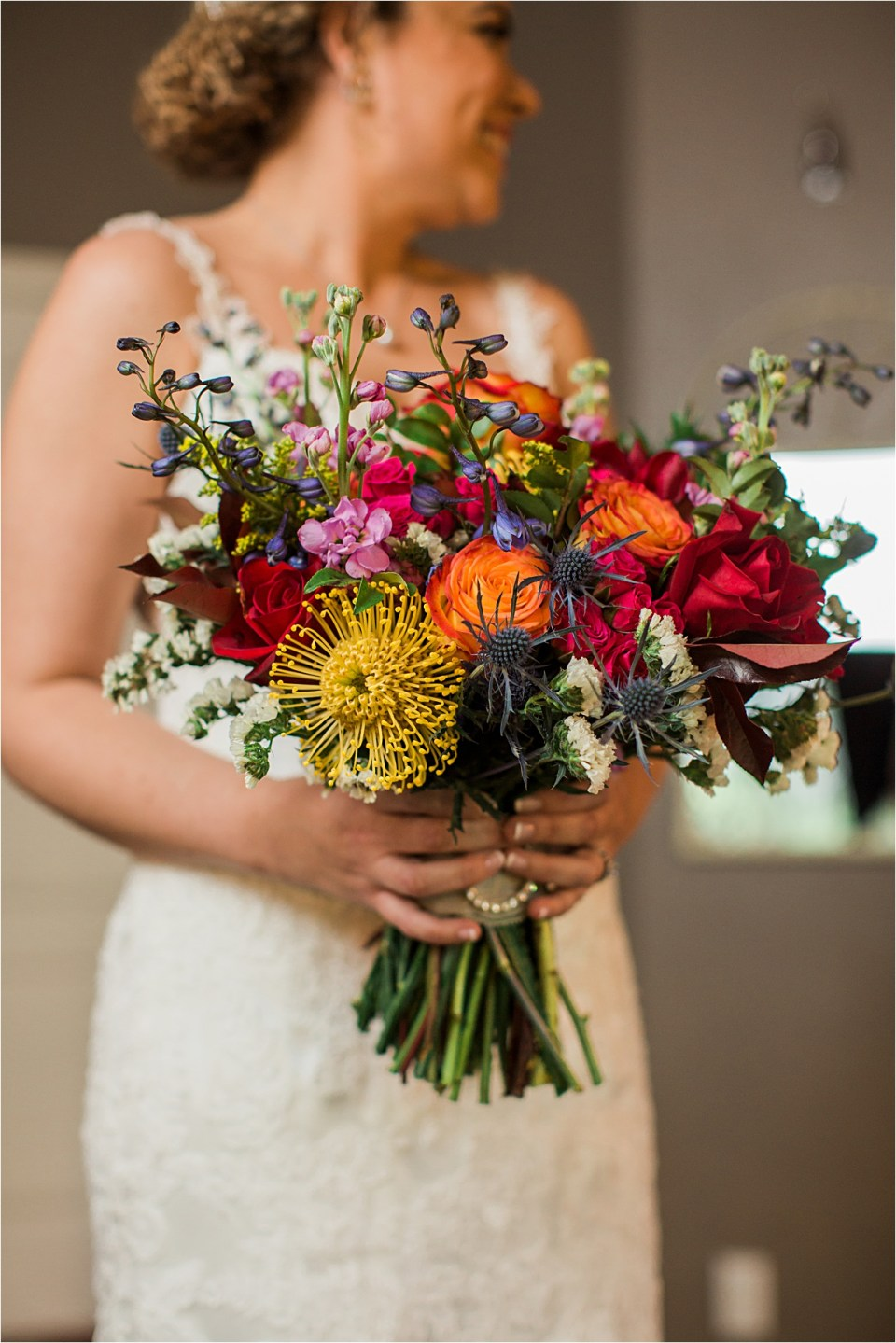 Bridal bouquet from Eastland Alley, Tucson, Arizona.