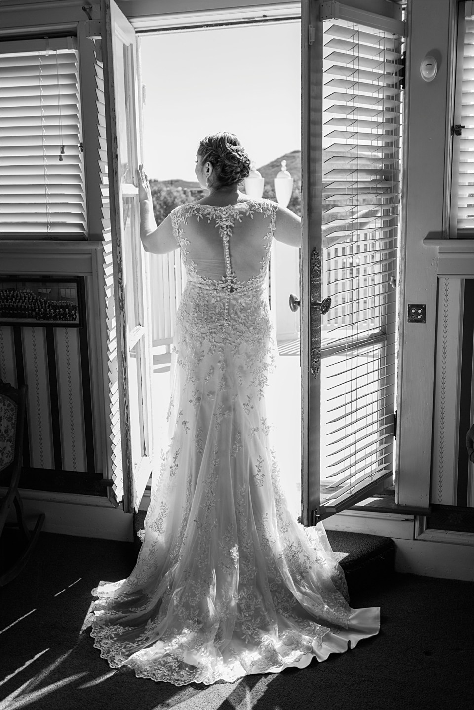 Bride getting ready at Z Mansion, Tucson, Arizona.