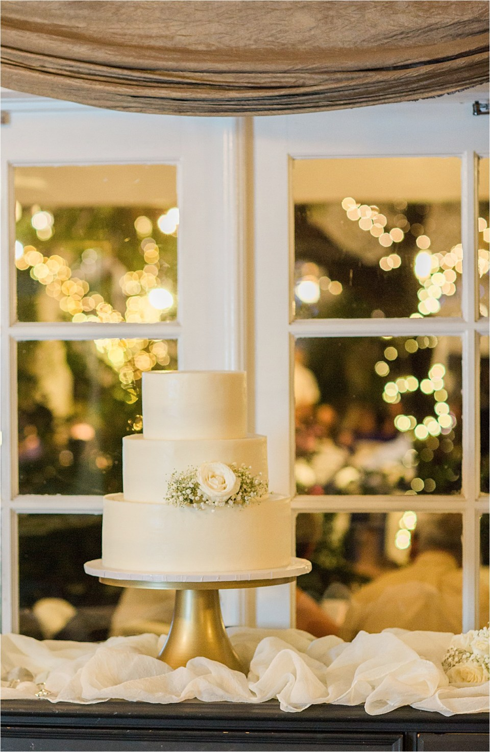Wedding cake by Ambrosia Cakes at Z Mansion in Tucson, Arizona.