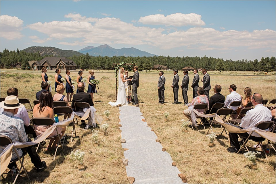 Flagstaff Wedding under the San Francisco Peaks.
