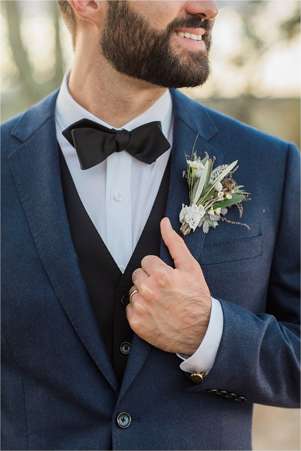 Groom at Tanque Verde Ranch Wedding