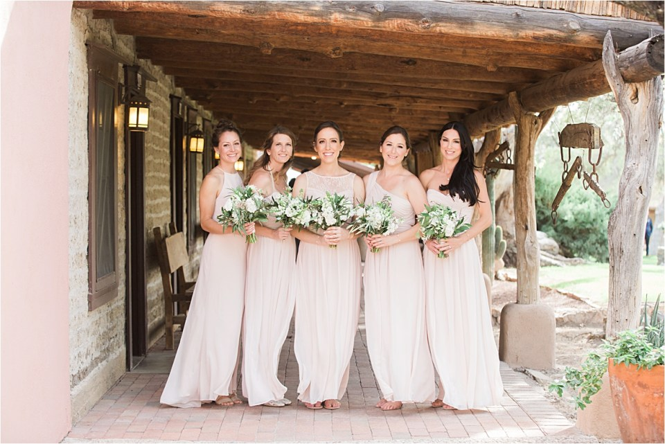 Bridal Party at Tanque Verde Ranch Wedding