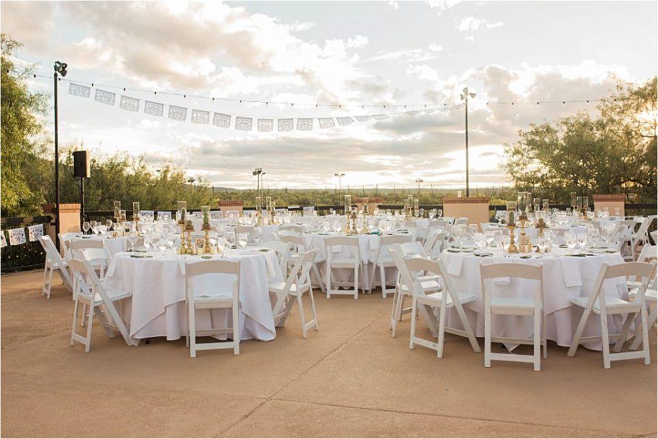 Dinner reception details at Tanque Verde Ranch Wedding.