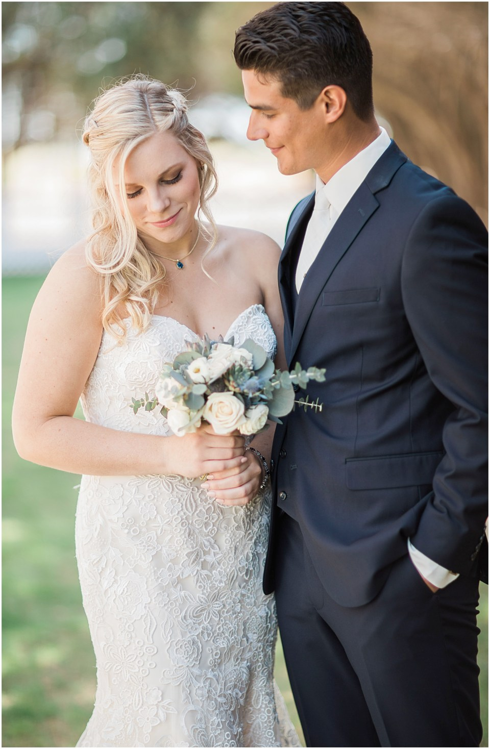 Tucson DIY Backyard Wedding Bride and Groom Photo