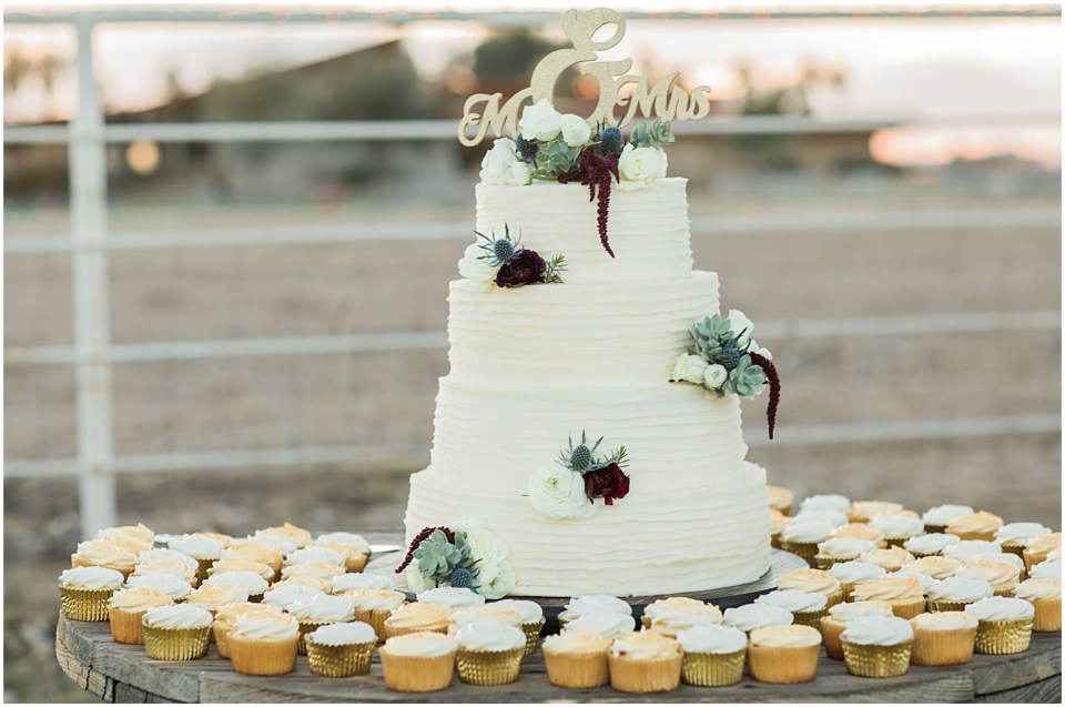 Tucson DIY Backyard Wedding Cake