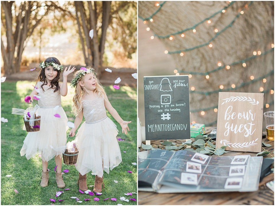 Tucson DIY Backyard Wedding Reception