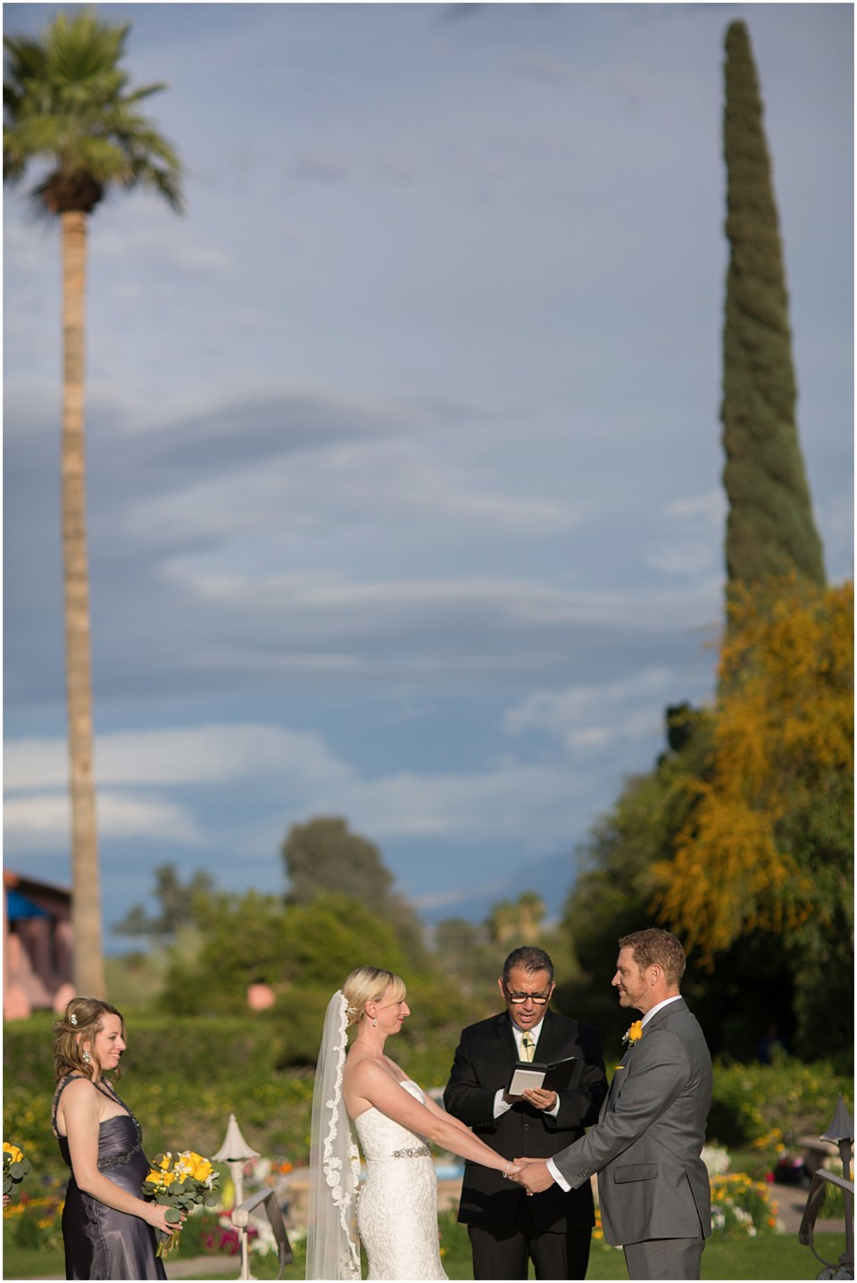 Wedding ceremony at the Historic Arizona Inn, Tucson, Arizona
