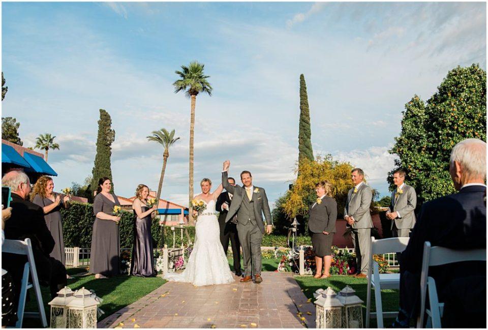 Wedding ceremony at the Historic Arizona Inn, Tucson, Arizona