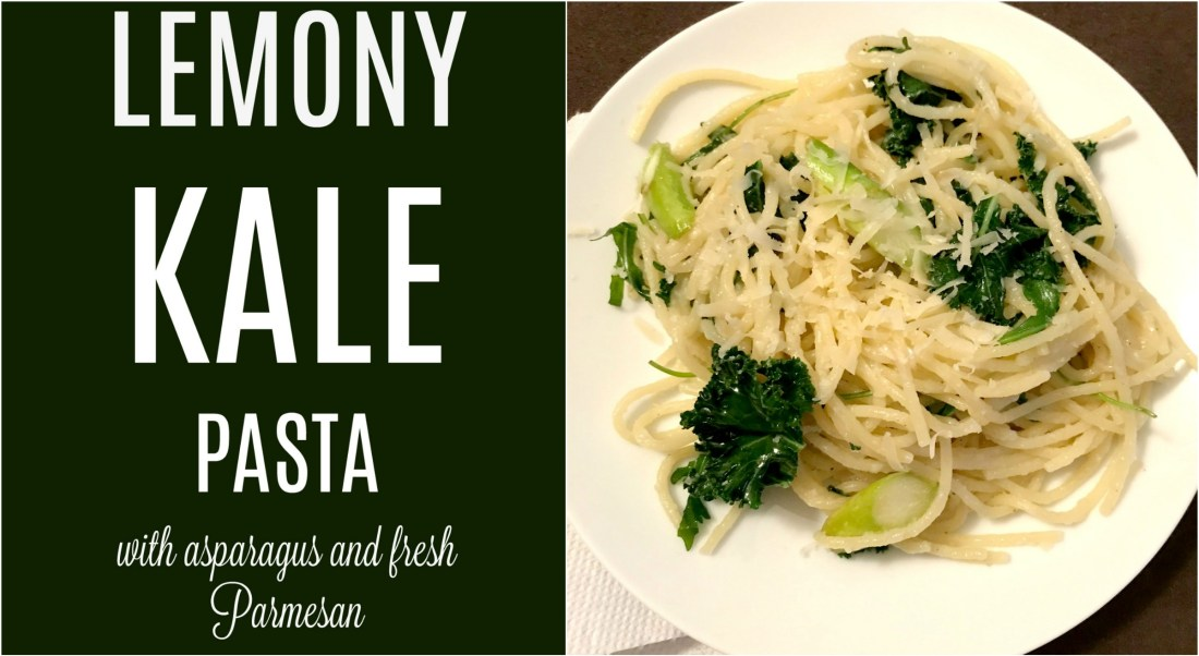 This lemony kale pasta a vegetarian option and is a delicious and fresh kick on pasta.  You can add bacon or prosciutto if you'd like!